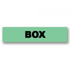 Box Green Flag Tags
