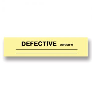 Defective Yellow Flag Tags
