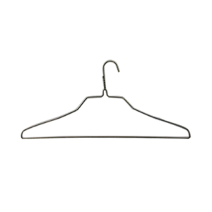 "18"" 12.5G Wire Shirt Hangers (Gold)(Box of 500)"