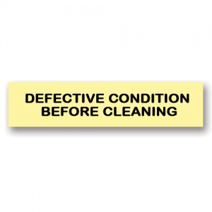 Defective Condition Before Cleaning Yellow Flag Tags