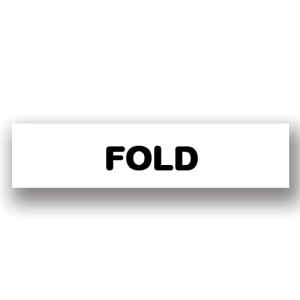 Fold White Flag Tags
