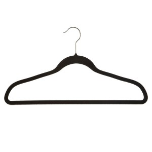 "17"" Slim Line Velvet Hangers (Black) (Box of 10)"