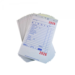 3 Part Hard Back Paper Invoices