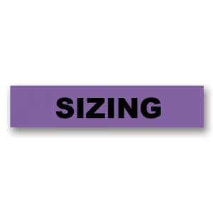 Sizing Purple Flag Tags