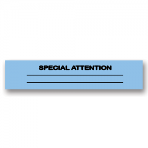 Special Attention Blue Flag Tags