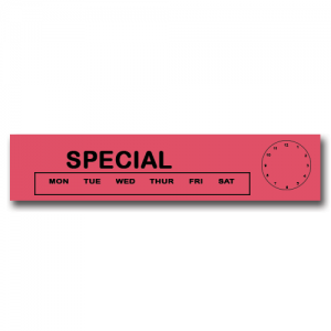Special Day/Time Red Flag Tags