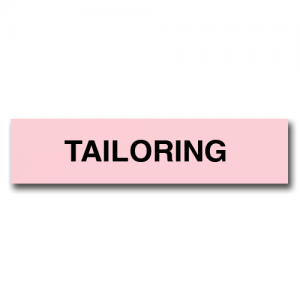 Tailoring Pink Flag Tags
