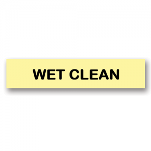 Wet Clean Yellow Flag Tags