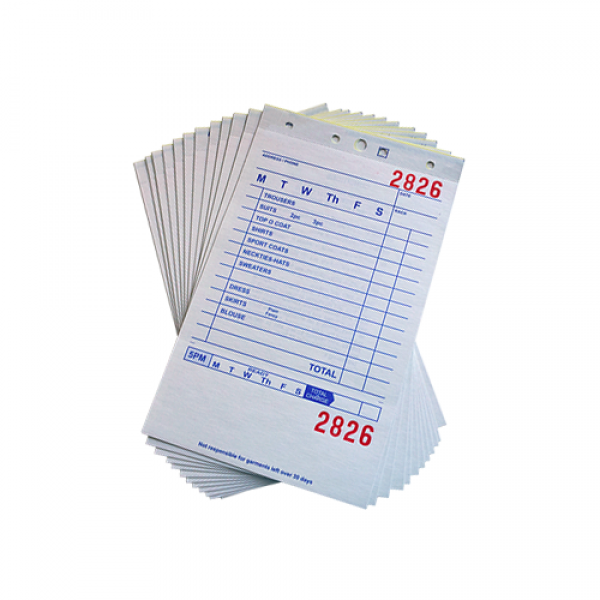 paper invoices tags forms and invoices dry cleaning and laundry